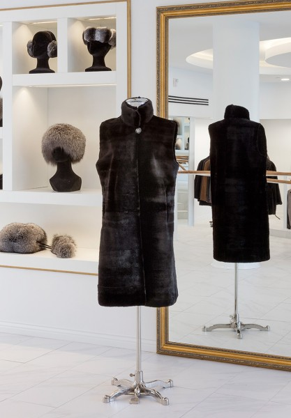 Sheared Mink Vest with mink trim