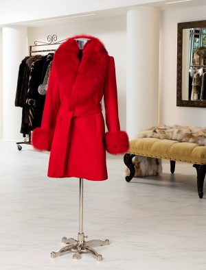 Cashmere Coat With Fox Trim